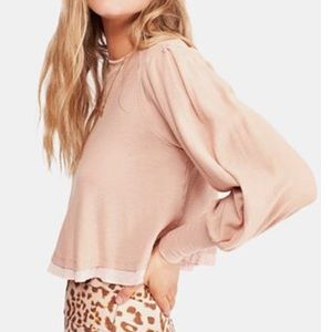 NWT FREE PEOPLE Billie Cropped Contrast T-Shirt